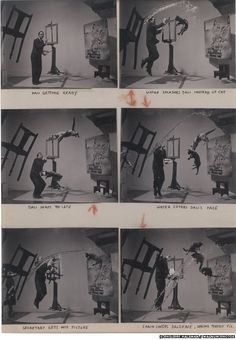 Halsman's contact sheets from his Dali shoot. From a BBC review of Magnum: Contact Sheets.
