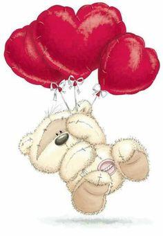Tatty Teddy, Fizzy Moon, Moon Bear, Teddy Bear Pictures, Blue Nose Friends, Bear Drawing, Decoupage Vintage, Cute Teddy Bears, Bear Art