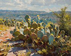 May Blooms by Mark Haworth Oil ~ 16 x 20 Watercolor Landscape, Landscape Art, Landscape Paintings, Watercolor Art, Desert Landscape, Desert Art, Southwest Art, Cactus Art, Flower Art