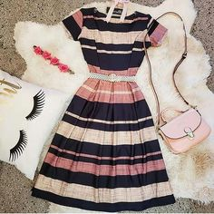 Moda Vintage Style Outfit 17 Ideas For 2019 Modest Dresses, Modest Outfits, Skirt Outfits, Modest Fashion, Pretty Dresses, Trendy Outfits, Beautiful Dresses, Fashion Dresses, Cute Outfits