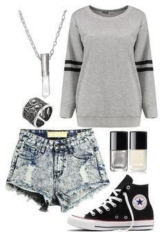 """Untitled #598"" by xdsummerhotdogz ❤ liked on Polyvore featuring Converse, Chanel and NOVICA"