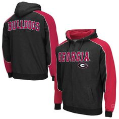 Georgia Bulldogs Thriller Full Zip Hoodie – Black