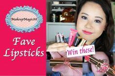 ★ Fave Lipsticks + GIVEAWAY YSL ROUGE VOLUPTE LIPSTICKS ★ ^_^ http://www.pintalabios.info/en/fashion_giveaways/view/en/1842 #International #MakeUp #bbloggers #Giveaway