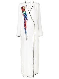 ATTICO Raquel Parrot Embellished Dress. #attico #cloth #dress