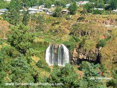 """TURISMO EN CHIHUAHUA En el Municipio de Guachochi se localiza en la Sierra Madre Occidental, es uno de los poblados más importantes de la comunidad Tarahumara o Rarámuri. Guachochi significa """"tierra de garzas"""", en este poblado se encuentra un parque recreativo, con espectaculares paisajes naturales. En estas vacaciones puedes aprovechar para recorrer este colorido pueblo, dar un paseo en lancha, hacer picnic o visitar la cascada """"El Salto"""". www.turismoenchihuahua.com"""