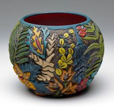 "Julie Woodrow, ""Midnight Garden"", ceramic — Sherrie Gallerie"
