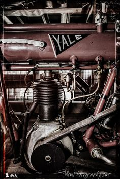 12x18 in Poster Vintage Yale Belt Driven Motorcycle, Garage Art Man Cave