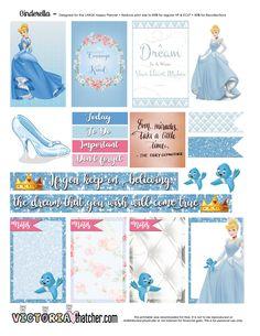 FREE Cinderella Planner Printable by Victoria Thatcher.