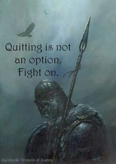 Quitting is not an option.  Fight on.