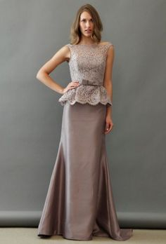 Awesome maxi dress with lace top - Weddingomania
