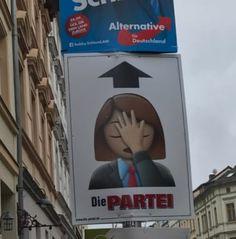 Bildergebnis für die partei wahlplakate