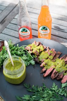 Skirt Steak + Chimichurri Sauce = Magic! Herby, garlicky, and tangy chimichurri sauce is so delicious slathered over anything, especially tender grilled steak.