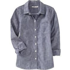 Women's Chambray Shirts - Old Navy - Polyvore