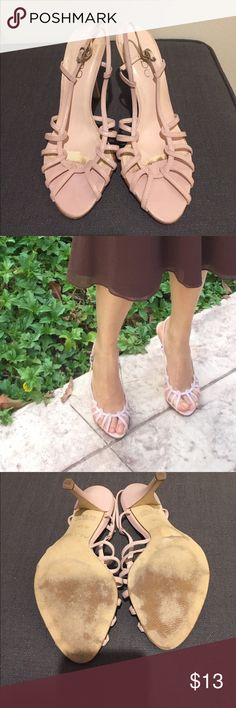 Pink Aldo Cage Sandals Summer Heels Shoes 5 Cute See photos for condition. These are super cute. Adjustable. Size 5 by Aldo. Leather. Aldo Shoes Heels