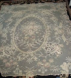 Tambour Lace Bed Cover