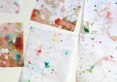 Kids Crafts: Making Marbleized Paper