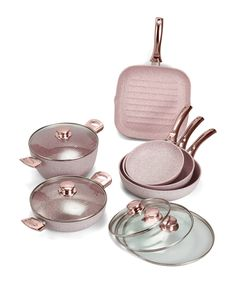 Rose gold-tone 6 piece pan set by Stonerose on secretsales.com