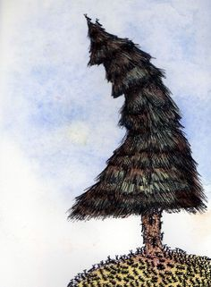 The Crooked Pine  Watercolor and Pen
