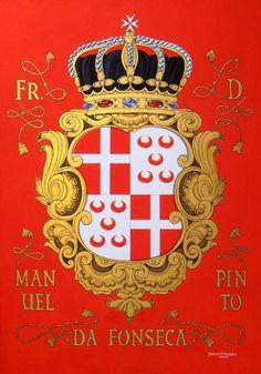 Coat of Arms painted by Ioannis Vlazakis. Gouache colors & handmade goldleaf 23 karats