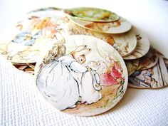 Are you planning for a baby shower with the ever famous Rabbit Tale Story? If so, you may want to get these adorable stickers. You will receive 36 Rabbit Tale stickers, randomly chosen. There are so many different designs included. Each is unique and pretty. Use these to adore favor bags or as en...