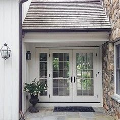 breezeway with french doors