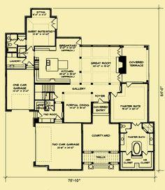 Architectural House Plans : Floor Plan Details : Prairie Craftsman