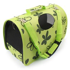 2017 new Green flower Print Pet Breathable Travel Bag Dog Cat Foldable Carrier For Small Dogs cats Portable Cage Bag PA31