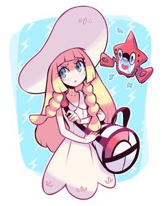 Pixiv Id 1077851, Pokémon, Rotom, Lillie (Pokémon), Shoulder Bag, :<