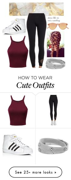 """""""Outfit #56"""" by sarah-gryffindor on Polyvore featuring adidas Originals, Henri Bendel, adidas, Chimi, class, dancemoms and dancer"""