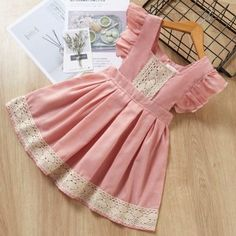 New Style Short Sleeve T-Shirt+Pant Dress Children Clothes Suits Girls Frock Design, Kids Frocks Design, Baby Frocks Designs, Baby Dress Design, Cute Baby Dresses, Baby Girl Party Dresses, Dresses Kids Girl, Kids Outfits, Dresses For Toddlers