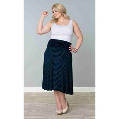 PRE-ORDER - Caleigh Convertible Skirt and Dress (Navy and Teal Stripe) $88.00 http://www.curvyclothing.com.au/index.php?route=product/product&path=95_103&product_id=8290