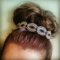 "Having a sockbun day using Pink Pewter style ""Patti"" Bun Hairstyles, Pretty Hairstyles, Wedding Hairstyles, Good Hair Day, Great Hair, Awesome Hair, Pink Pewter Headbands, Hair Cuffs, Girly Things"