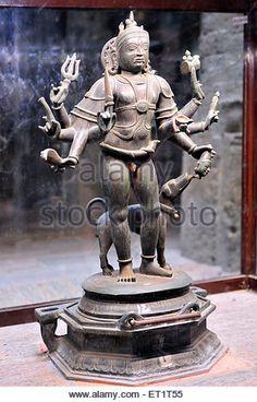 bronze statue of Shiva chola dynasty in meenakshi temple madurai tamilnadu india Asia - Stock Image