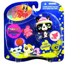 """Hasbro Year 2008 Littlest Pet Shop Portable Pets """"Special Edition Pet - Messiest"""" Series Collectible Bobble Head Pet Figure Set #978 - Black and White Boston Terrier Puppy Dog with Winter Hat, Puppy Toy and Dog Bowl with """"Food"""" (92707) Littlest Pet Shop http://www.amazon.com/dp/B00586WBL2/ref=cm_sw_r_pi_dp_Z9Lbub1H9RM2S"""