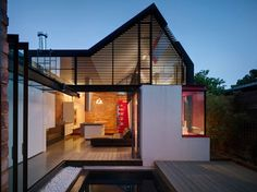 two storey extension victoria terraced house floor plan - Google Search