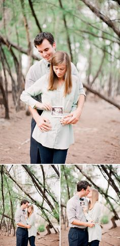 Our pregnancy announcement photos today on OnToBaby.com <3