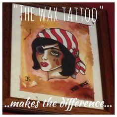 Painting for wax tattoo studio