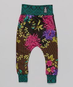Loving this theMINIclassy Fuchsia Floral Cropped Harem Pants - Infant, Toddler & Kids on #zulily! #zulilyfinds