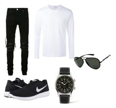 """Untitled #98"" by zejnilovicadelisa ❤ liked on Polyvore featuring AMIRI, Comme des Garçons, NIKE, Longines and Ray-Ban"