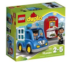 LEGO DUPLO Town Police Patrol 10809 Toddler Toy, Large Building Bricks #LEGO