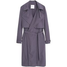 Mango Flowy Trench Coat , Charcoal ($105) ❤ liked on Polyvore featuring outerwear, coats, charcoal, lightweight trench coat, long sleeve coat, lapel coat, trench coat and mango coat