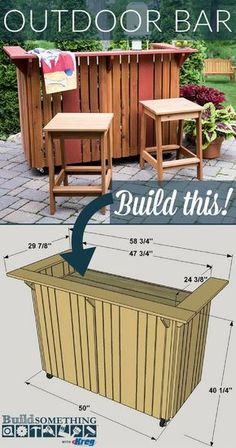 Easy Diy Outdoor Bar Plans - Diy Outdoor Bar Free Printable Project Plans At Buildsomething Outdoor Bar Plans Bar Plans Outdoor Bar Patio Bar 15 Outdoor Bar Ideas On A Budget Plan. Outdoor Patio Bar, Backyard Bar, Diy Patio, Outdoor Bars, Outdoor Pallet Bar, Outdoor Steps, Patio Decks, Rustic Outdoor Bar, Wood Patio