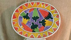 1998 Clay Art Sizzling Chilis Hand Painted Dish