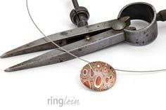 Collier MAJAI rund – mokume gane mattiert von ringlein auf DaWanda.com