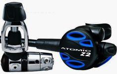 Atomic Aquatic 1st and 2nd stage regulator scuba diving equipment snorkel s30755 #AtomicAquatics  shop.sundancedivers.com
