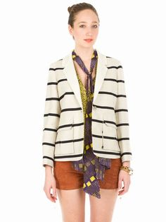 I love this striped blazer by SUNO at Opening Ceremony!