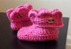 Baby Crochet Booties Pattern (free)