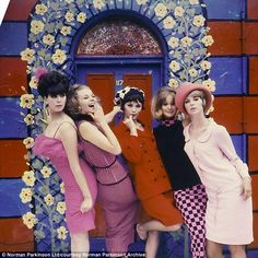 Melanie Hampshire, Celia Hammond and other models feature in an unused 1963 cover shot for Life magazine