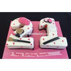 21 Number Birthday Cake