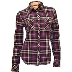 True Religion Women's Plaid Flannel Work Wear L/S Shirt-Purple ($100) ❤ liked on Polyvore featuring tops, shirts, blouses, long sleeves, long sleeve plaid shirts, flannel shirt, true religion shirts, plaid shirt and plaid top